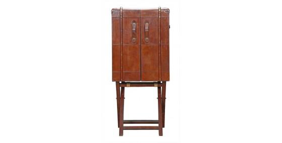 Harley Leather Bar Cabinet