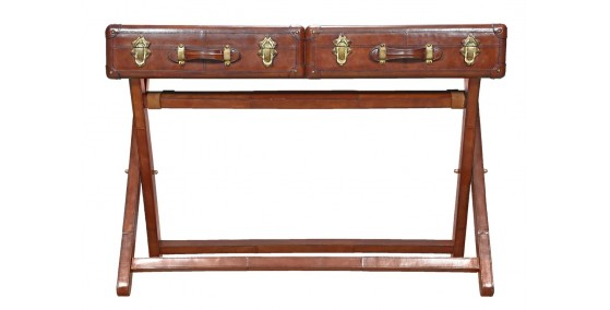 Cody Leather Console Table