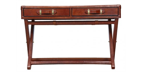 Sam Leather Console Table