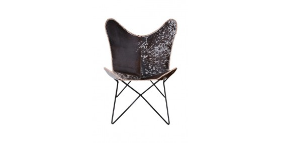 Velar Leather Butterfly Chair