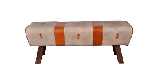 Saffron Leather Bench