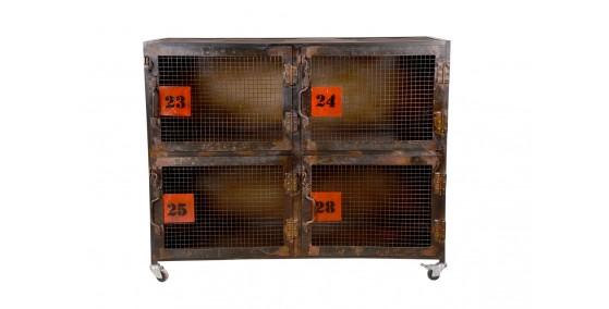 Marion Industrial Metal 4 Door Cabinet