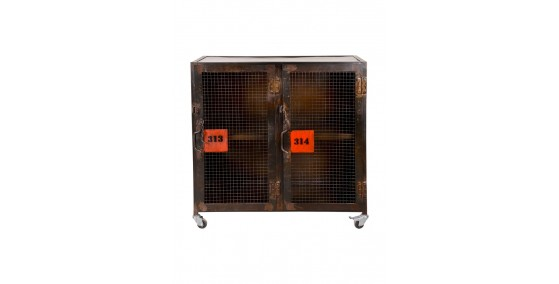 Marion Industrial Metal 2 Door Cabinet