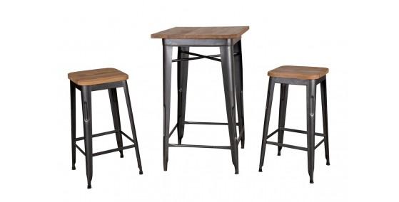 Kylie Metal Bar Table Set