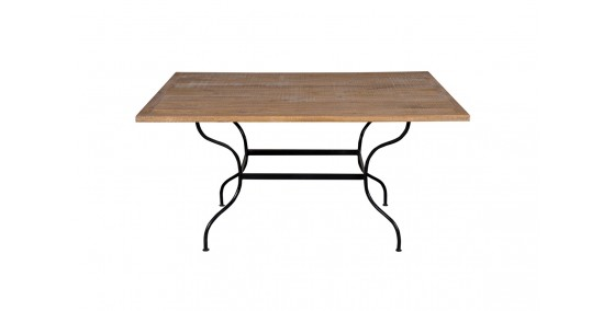 Miller Iron Base Dining Table