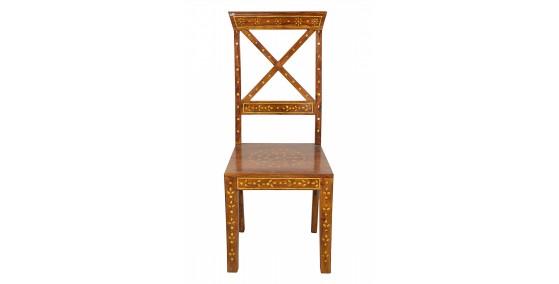 Wave Sheesham Wood Bone Work Chair