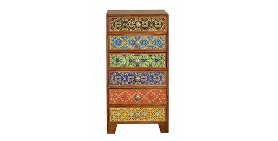 Colby Tile Inlay Drawer Chest