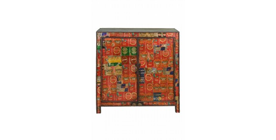 Santa Recycled Wood Bar Cabinet