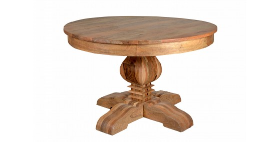 Henii Sheesham Wood Round Table