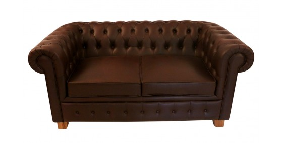Sebastian Leather Two Seater Chesterfield sofa