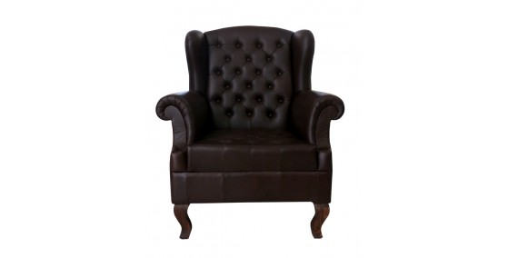 Saturday Leather Chesterfield Sofa Chair