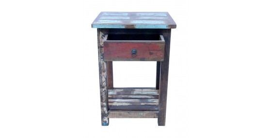 Polo Recycled Wood Side Table