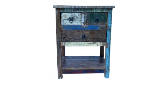 Bahama Recycled Wood Side Table