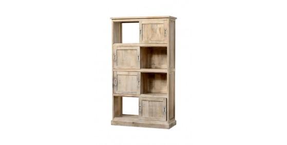 Jonathan Sheesham Wood Sliding Door Book Shelf