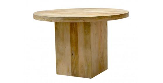 Adam Sheesham Wood Round Dining Table